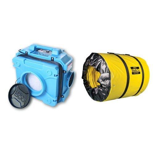Dri-Eaz F284 DefendAir HEPA 500 Air Purifier and F405 Sto N Go 25-foot Ducting, -20 to 180 Degree F bundle