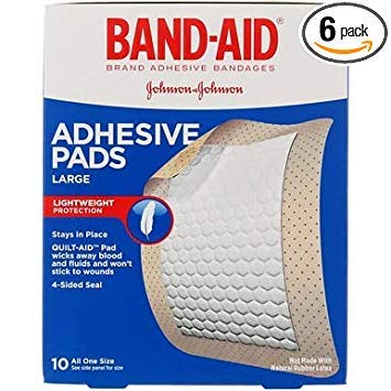 Band-Aid Adhesive Pads All One Size - 2 7/8