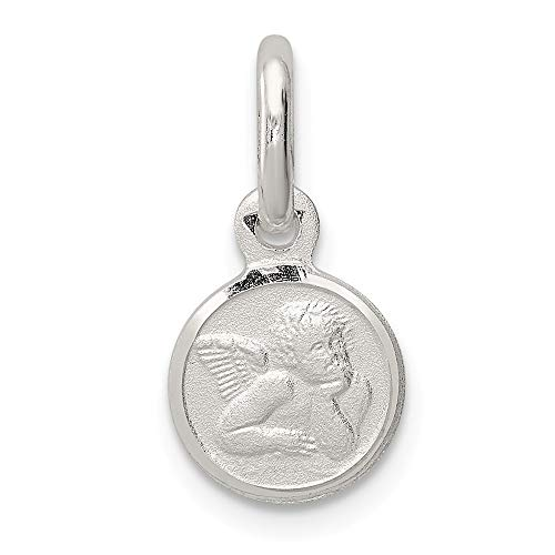 Roy Rose Jewelry Sterling Silver Satin Angel Charm (Charm Angel Jewelry Satin)