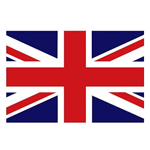 Libaoge Vintage UK Flag Aquarium Background Double Sides,