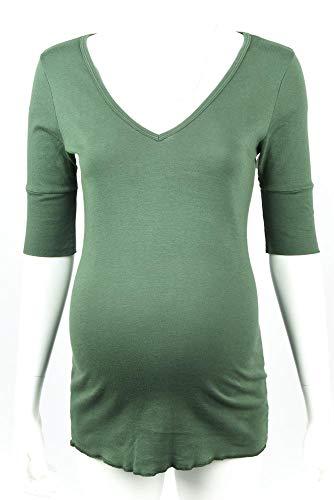 Michael Stars Maternity Zucchini Green OSFA Elbow Sleeve t-Shirt top