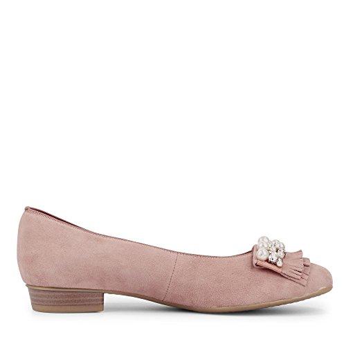 ara 12-33741-65 Damen Bari Ballerina Rundumgummizug Flexible Luftpolstersohle Rosé