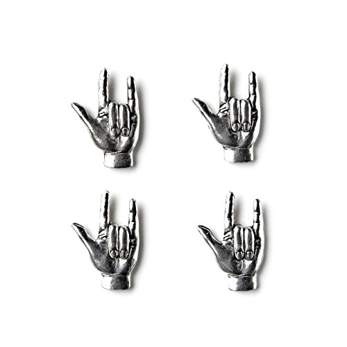 Sign Language I Love You Tuxedo Studs by Quality Handcrafts Guaranteed