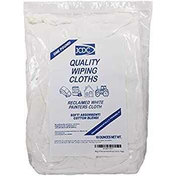 Bag of Reclaimed White Cotton Rags - One Pound