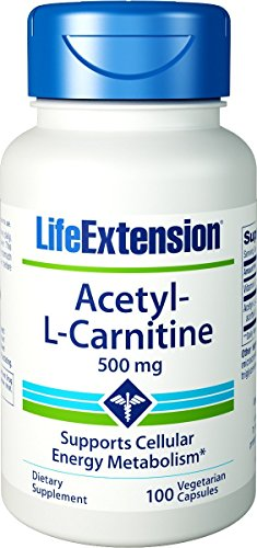Life Extension Acetyl L-carnitine 500 mg 100 Vegetarian Capsules by Life Extension