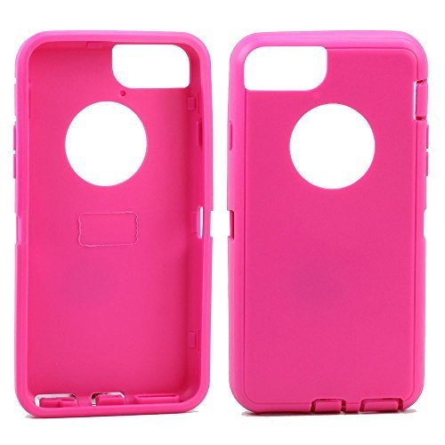 Apple iPhone 6 Plus 5.5 Replacement Generic Aftermarket TPE Silicone Skin for Otterbox Defender Series Case Cover For Apple iPhone 6 Plus 5.5 inch - Hot Pink Outer Skin