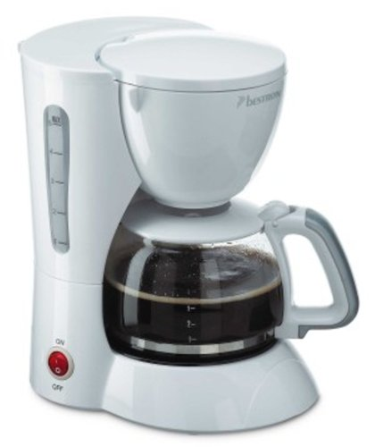 Bestron DCM502 - Cafetera por goteo (6 tazas), color blanco ...