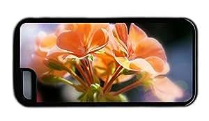 Funny iphone case funny covers Orange flowers bokeh macro TPU Black for Apple iPhone 5C
