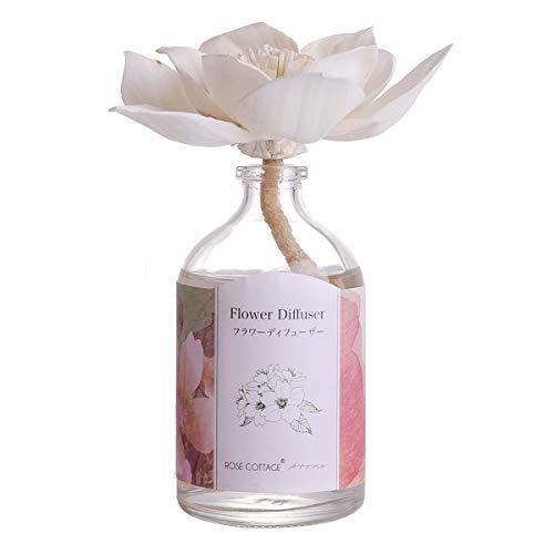 Rose Cottage Reed Diffuser Set Lavender Scented Sticks Oil Diffuser Room Fragrance for Bedroom Bathroom Living Room Office 100ML/3.4Oz. (Diffuser Best For Bathroom)
