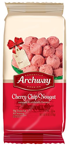 (Archway Holiday Cherry Chip Nougat Cookie, 6 Ounce)