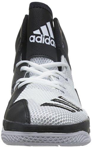 adidas Dt Bball Mid - Basket Hombre Multicolore (Ftwwht/Cblack/Clonix)