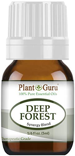Deep Forest Essential Oil Blend 5 ml 100% Pure, Undiluted, Therapeutic Grade. Aromatherapy, Respiratory System Support, Air Purifier, Natural Christmas Tree Scent (Wreath Pine Idaho)