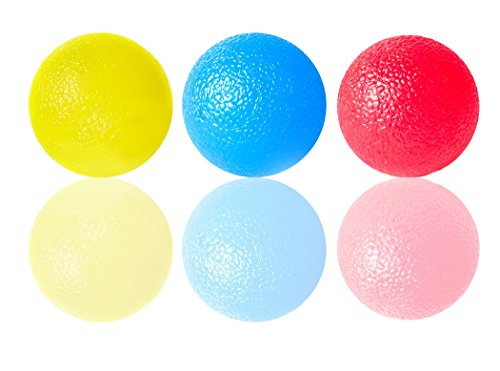 Squishy Stress Balls for Kids and Adults (3-Pack) - Unbreakable Gel Ball for Stress Relief - BPA Free Latex Free Stretch Ball -- Fidget Squeeze Toys for Anxiety, ADHD
