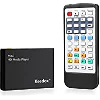 Media Player, Keedox Digital Media Player HD Media Player HDMI FULL HD 1080P for USB Drivers, SD Cards, HDD, External Devices