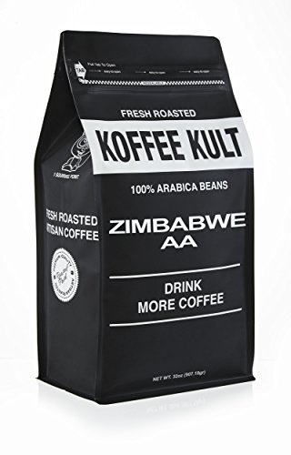 Koffee Kult Zimbabwe Coffee Beans (2 Lb WB) Highest Quality Delicious - Whole Bean - Single Origin- Fresh Roasted Gourmet - Aromatic Artisan Coffee