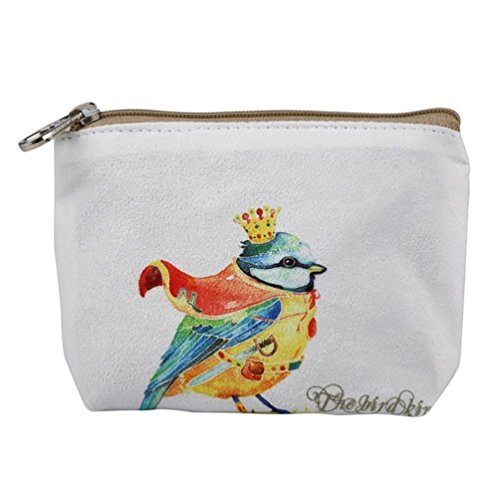 Zipper Butterfly Canvas Crownbird Coin Small Cartoon Iron Wallet Purse Handbag Wallet Women Ladies Purses BfwRqBgzx