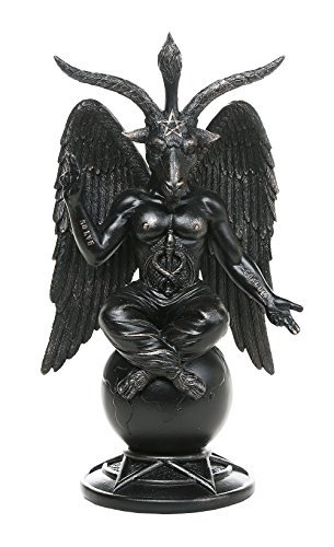 GiftImpact Baphomet Divine Goat of Mendes Sabbatic Goat Solve et Coagula Statue 10 Inch Tall by GiftImpact