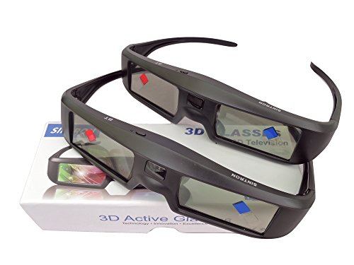2X 3D Active Shutter Glasses Rechargeable - Sintron ST07-BT for RF 3D TV, 3D Glasses for Sony, Panasonic, Samsung 3D TV, Epson 3D projector, Compatible with TDG-BT500A TDG-BT400A TY-ER3D5MA TY-ER3D4MA (Best Active 3d Glasses For Samsung Tv)