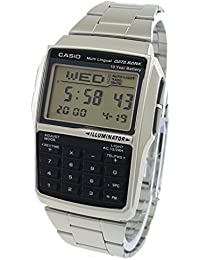 Mens Casio DBC-32D-1A Silver Steel Databank Calculator Watch