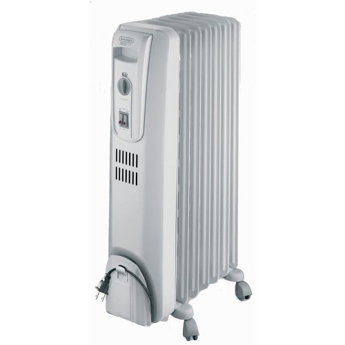 DeLonghi TRO715L Safeheat 1500W Basic Portable Oil-Filled Radiator - Light Grey - | 1500W amzn_product_post DeLonghi Delonghi Grey Oil Filled Heaters Oil-Filled Portable Radiator Safeheat