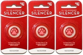 Small   3 Silencers Quick-Tag New Glow in The Dark Dog Tag Silencers (Circle Shape, Small 3 Silencers)