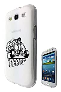 c0155 - GYM BEAST Body Builder Design Samsung Galaxy S3 i9300 Fashion Trend CASE Gel Rubber Silicone All Edges Protection Case Cover