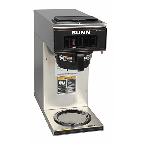 64 Coffee Black Decanter Oz (BUNN 13300.0001 VP17-1SS Pourover Coffee Brewer with 1 Warmer, Stainless Steel (120V/60/1PH))