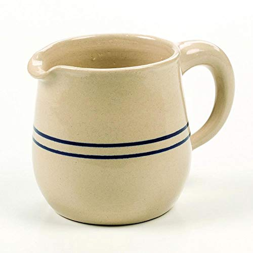 Heritage Blue Stripe Stoneware Creamer/Syrup -