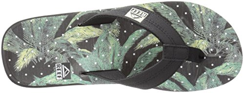 Rif Mens Ht Prints Sandaal Zwarte Palm Dot
