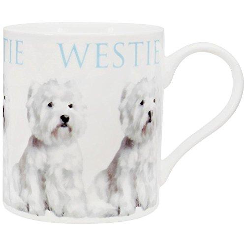 Animal World - West Highland Terrier Repeat Body Coffee Mug - White