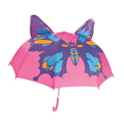 Babalu Kids Umbrella - Childrens 18 Inch Rainy Day Umbrella - Butterfly