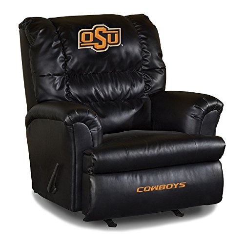 NCAA Oklahoma State University Leather Big Daddy Recliner, One Size, Multicolor (Chair Daddy Team Recliner Big)
