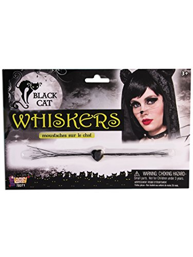 Forum Novelties 78371 Black Cat Whiskers, One Size, Pack of -