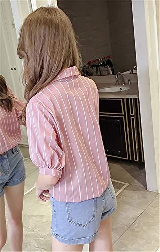 d'affaires Top Femmes clothing Tunique lgant Col T Lache Chemise Mode Dcontracte Manches Shirt COCO Rose Simple Tops Mince Polo Stand Estivale Chemise Blouse 81qFAxwF
