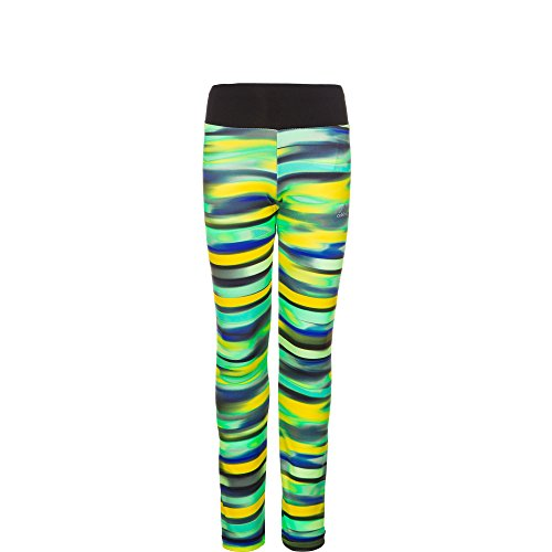 Adidas YG AIS TIGHT Mädchen Leggings, Schwarz / Gelb, 152