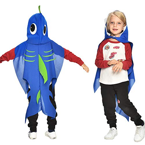Toddler Shark Costume for Kids with Hat-Boys Girls Sea Themed Party Supplies