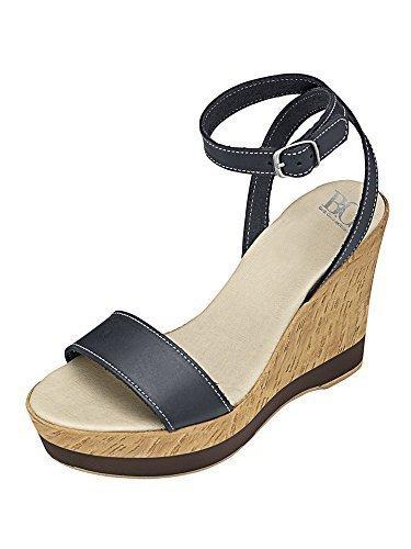 Best Connections Sandalette - Sandalias de vestir de cuero para mujer azul - azul