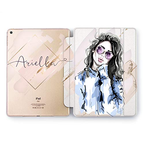 Wonder Wild Cute Girl Design Case for Apple iPad 2 3 4 Pro 9.7 11 inch Mini 1 2 3 4 5 Air 2 10.5 12.9 2018 2017 5th 6th Gen Clear Smart Hard Cover Princess Personalized Name Stylish Trend Lips She]()