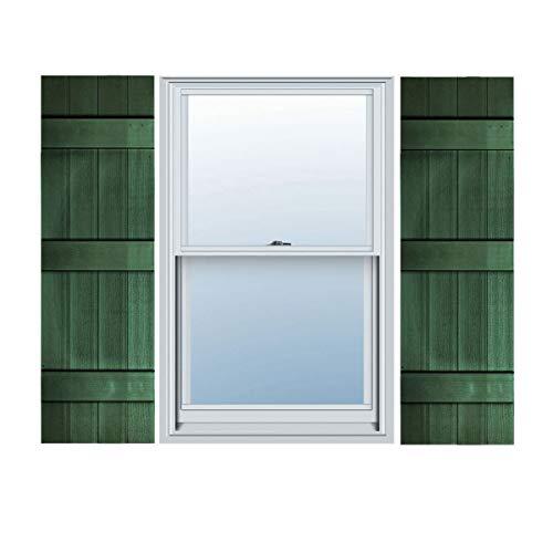 "Builders Choice EVB14067GR Shutters, 14"" x 67"", Green"