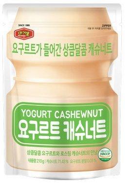 Yogurt Covered Cashews - Mergerbon Yogurt Flavored Roasted Nuts 210g (Cashew, 1 Pack)