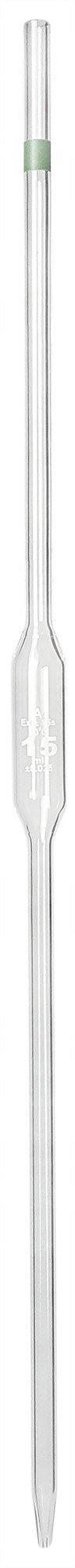 GSC International PPVL-15 Volumetric Pipette 15 mL Capacity, Borosilicate Glass
