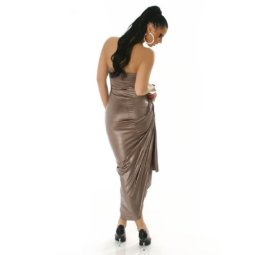 Young-Fashion - Vestido - para mujer Latte