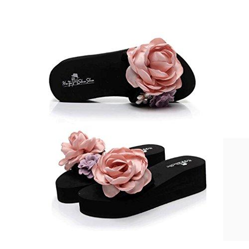 Flower colore Con Uk Indossa Donna Pantofole Suola Dimensioni 7 Spiaggia 0 Per Spessa Flower Sandali Estive Purple zAqxqwETa