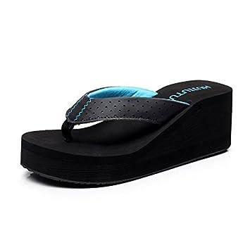 BAOZIV587 - Zapatillas de exterior para mujer, espuma, gruesas, negras, ligeras,