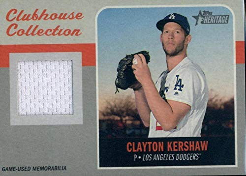 2019 Topps Heritage Clubhouse Collection Relics #CCR-CK Clayton Kershaw MEM Dodgers Baseball MLB from Heritage Products