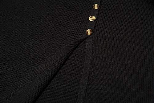 8d96692118d cmz2005 Women s Button Down Long Sleeve Sweater Dress Bodycon Party Maxi  Dress 6088