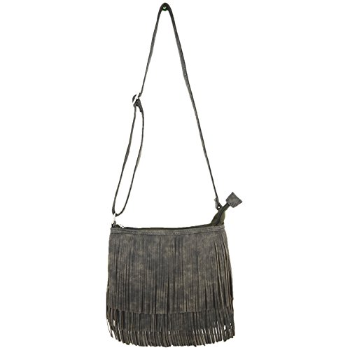 Cross Concealed Western Shoulder Body Women Cowgirl Fringe Carry Bags Grey Purse Single Country Style Handbags qYYtTSwFxA