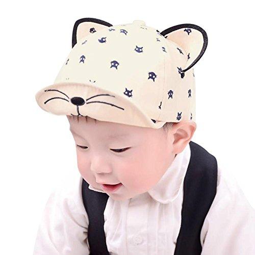 Baby Hats With Ears Baseball Cap Baby Boys Girls Sun Hat (Beige) - 1