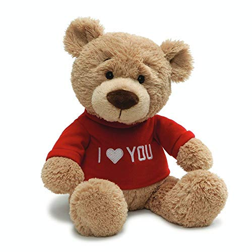 Gund Valentine's Day Love You T-Shirt Message Bear Plush Stuffed Animal, 7.5