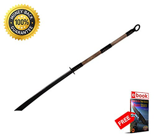 53'' Full Tang Hand Forged Carbon Steel Naginata Warrior Sword Song Pudao NEW PRIME sharp strong blade eBOOK by MOON KNIVES